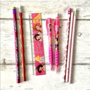 Disney Princess School Supplies Pencils Ruler Set
